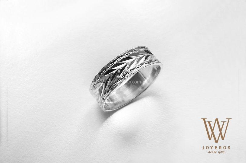 Aro de matrimonio diamantado