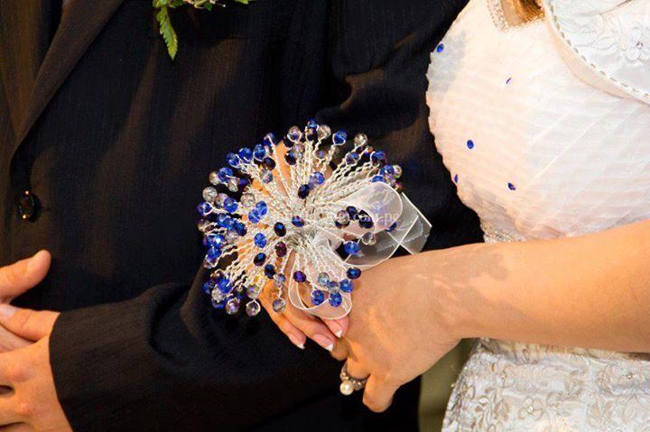Bouquet de muranos azules
