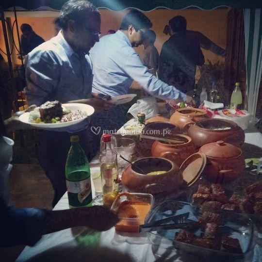 Buffet de cocina criolla
