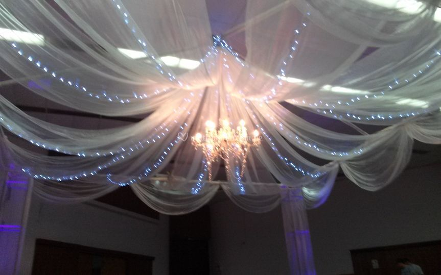 Decoración en organza