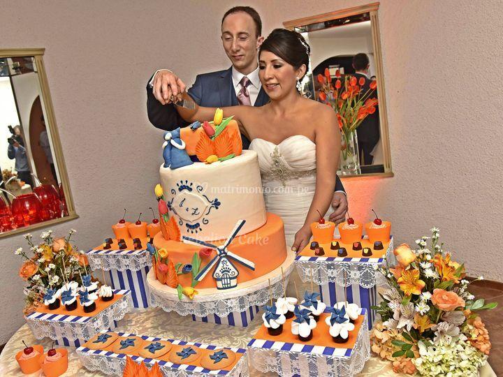 Torta y mesa holandesa
