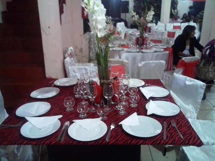 Organización de la mesa