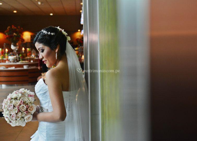 Sesión fotográfica novia.