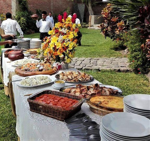 Variedad de buffets