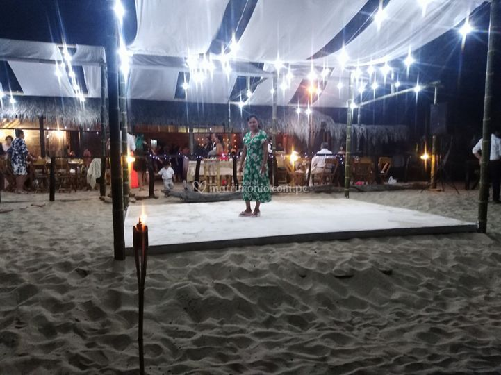 Pista de baile en playa