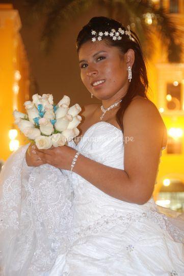 Primer plano de novia
