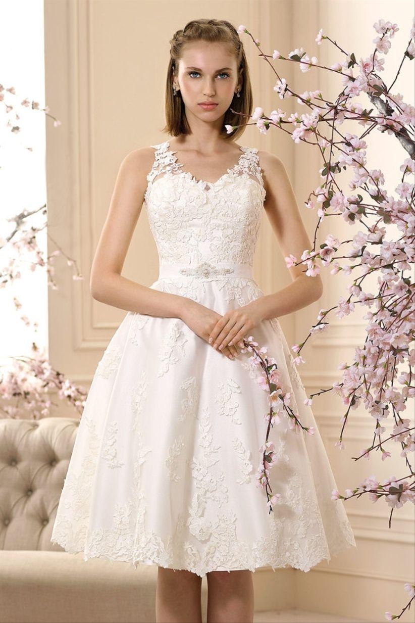 Vestidos de novia cortos para matrimonio civil
