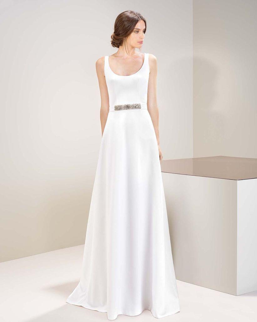 b6f5fa98c Vestidos de novia sencillos  80 modelos con estilo y belleza