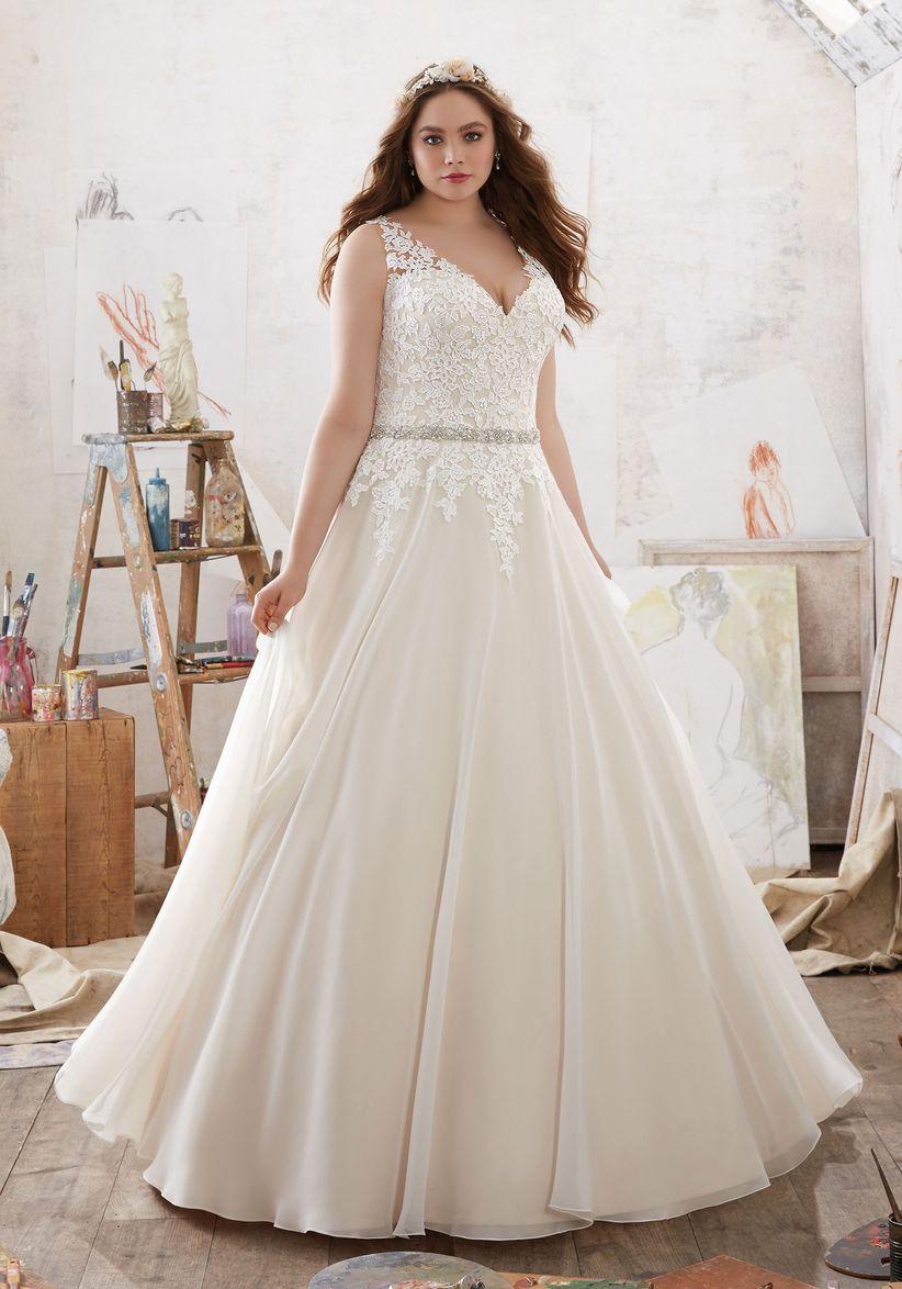 Vestidos de novias 2019 corte princesa