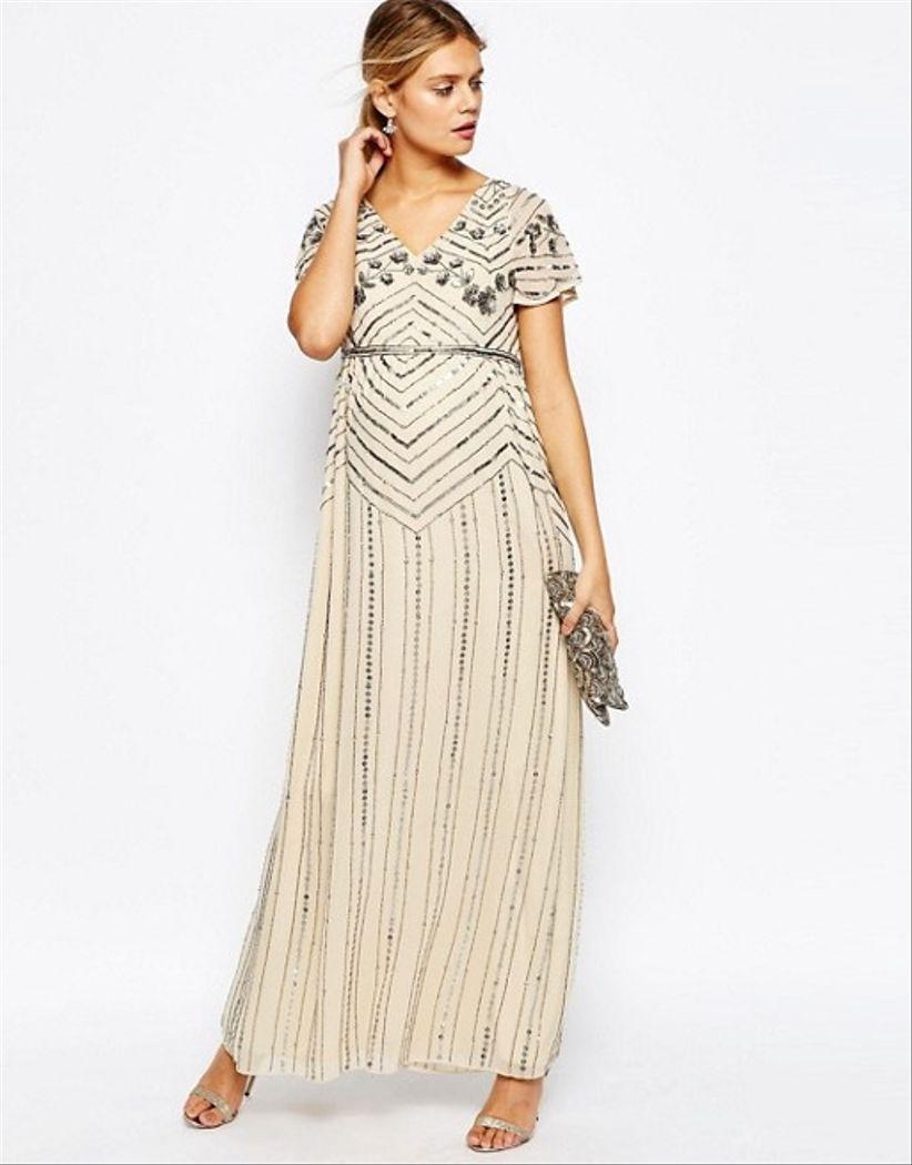 Modelos de vestidos largos para mujeres embarazadas