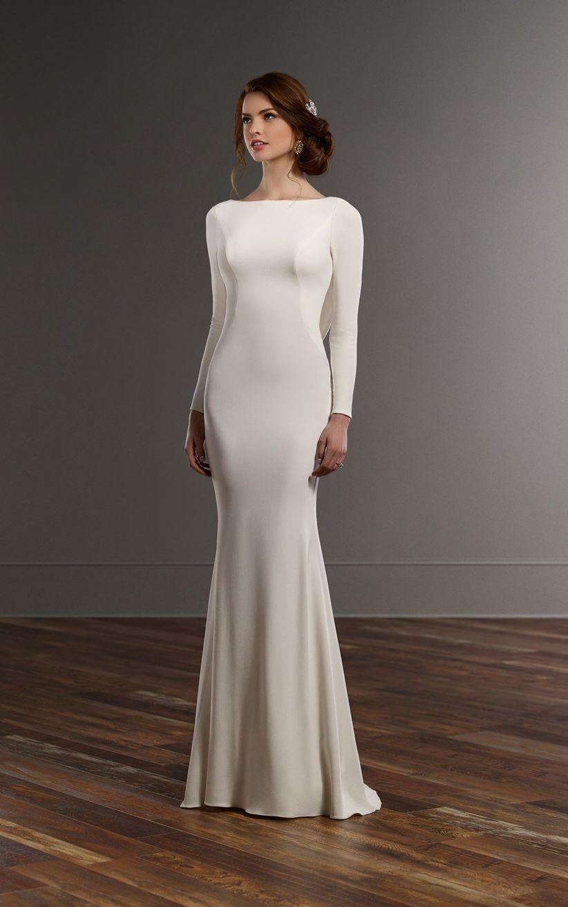 Vestido d novia sencillo