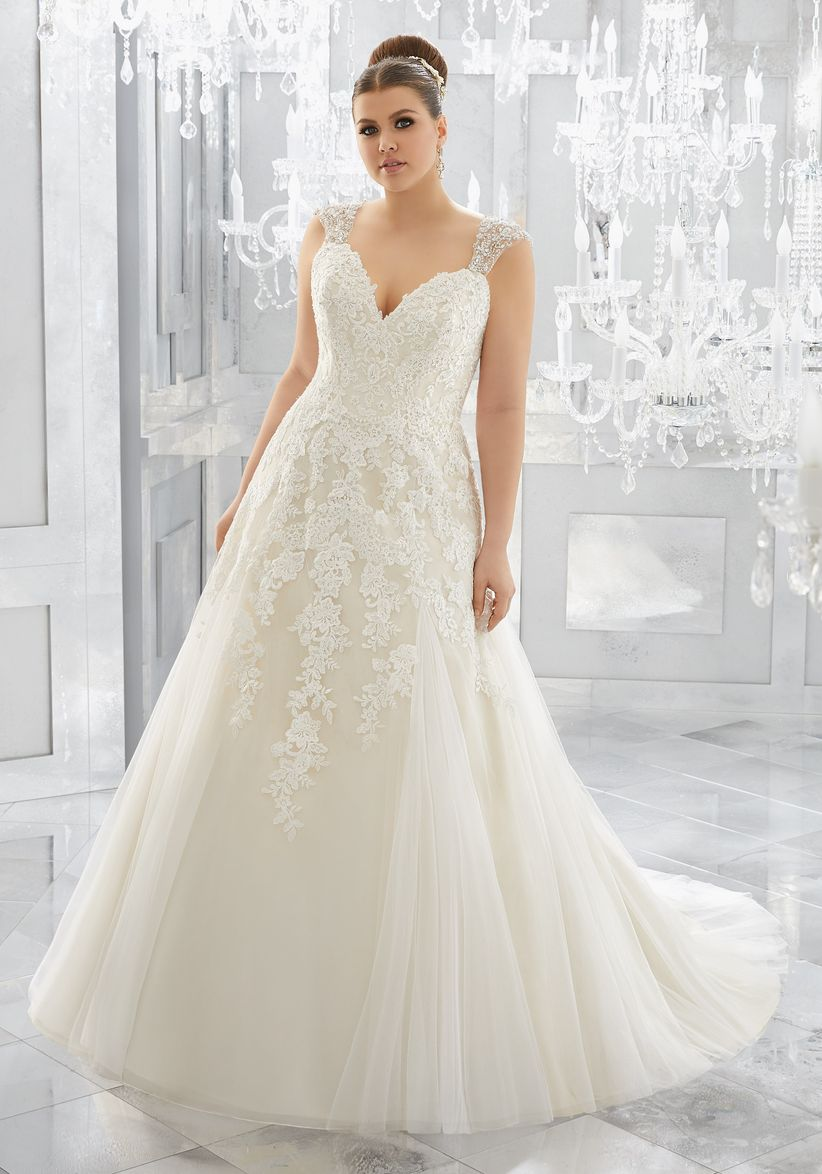 edc153570 60 vestidos de novia para gorditas ¡luce espectacular en tu gran día!