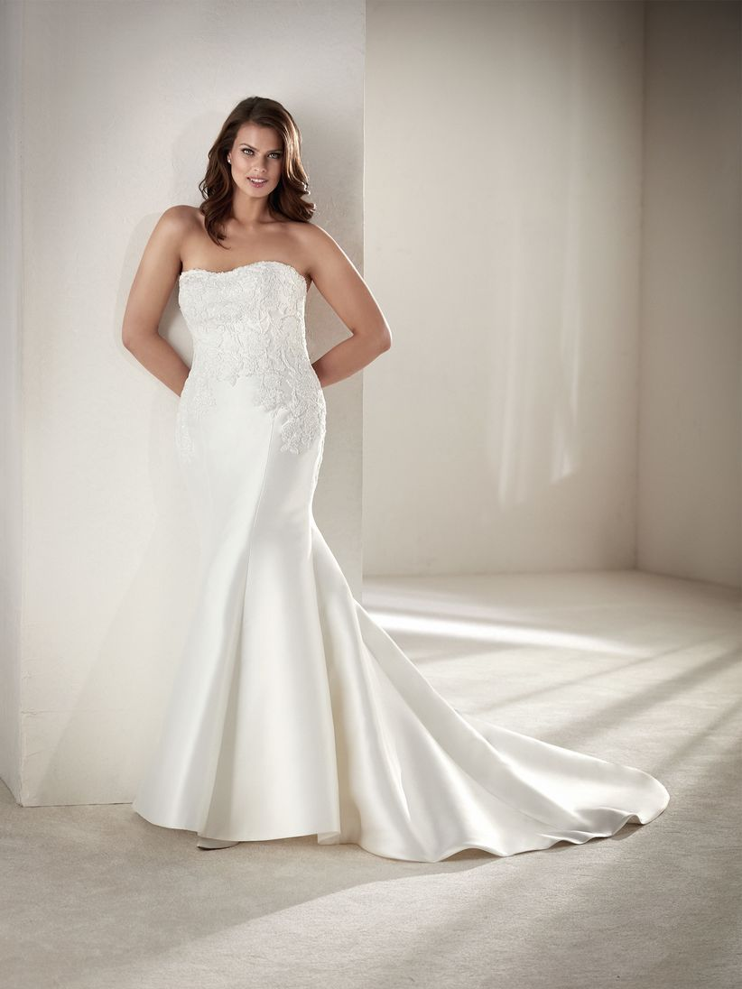 Vestidos de novia para mujer con busto grande