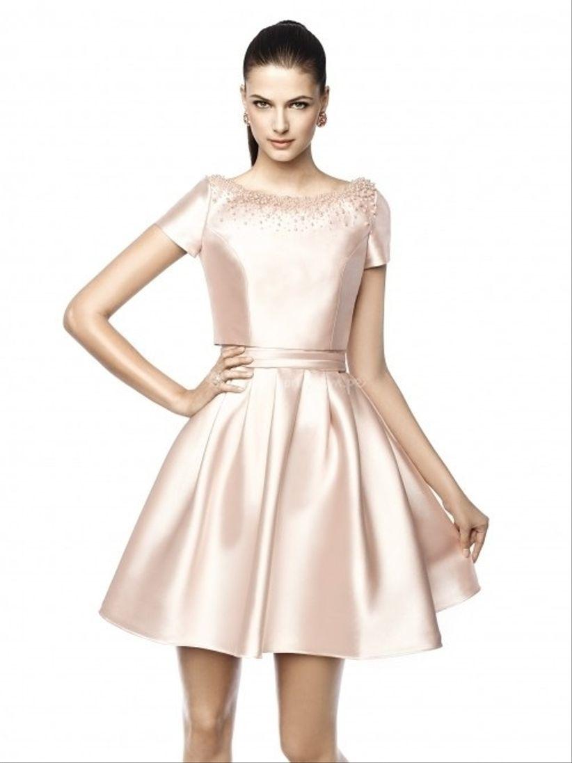 Modelos de manga corta para vestido