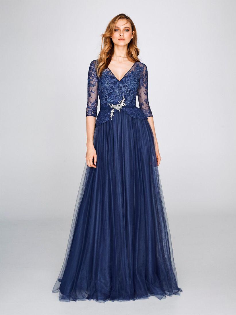 Vestidos de gala color azul marino