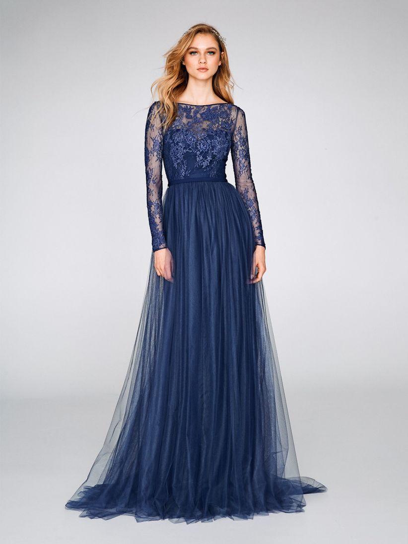 Vestido de fiesta corto azul electrico