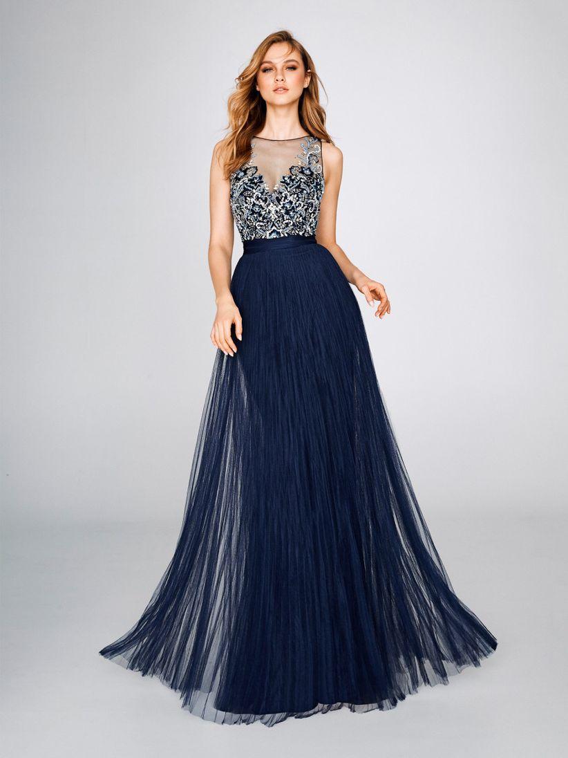 Vestidos de noche largos azul electrico