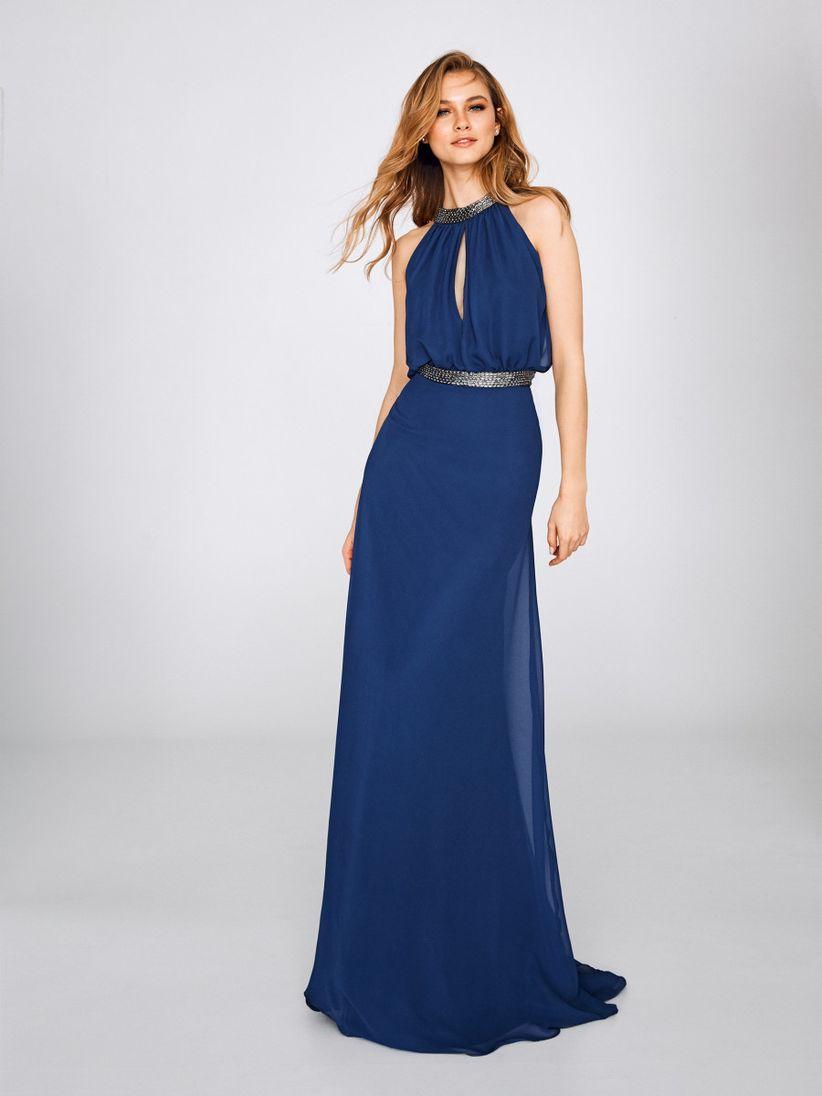 Vestido de fiesta color azul noche
