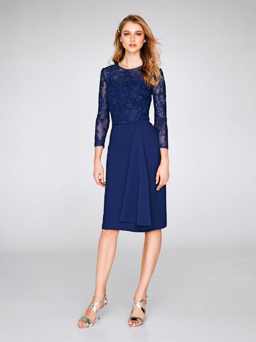 Vestidos azul noche largos