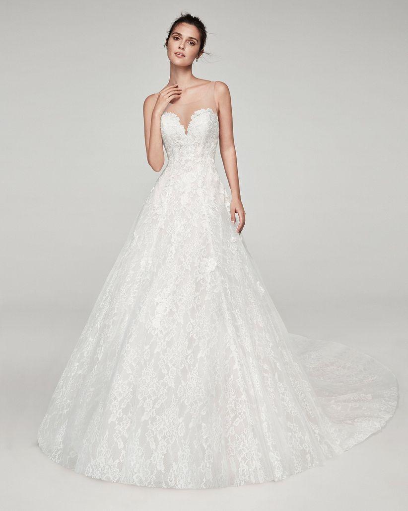1d57a983123 50 vestidos de novia corte princesa: ¡este 2019 totalmente deslumbrante!
