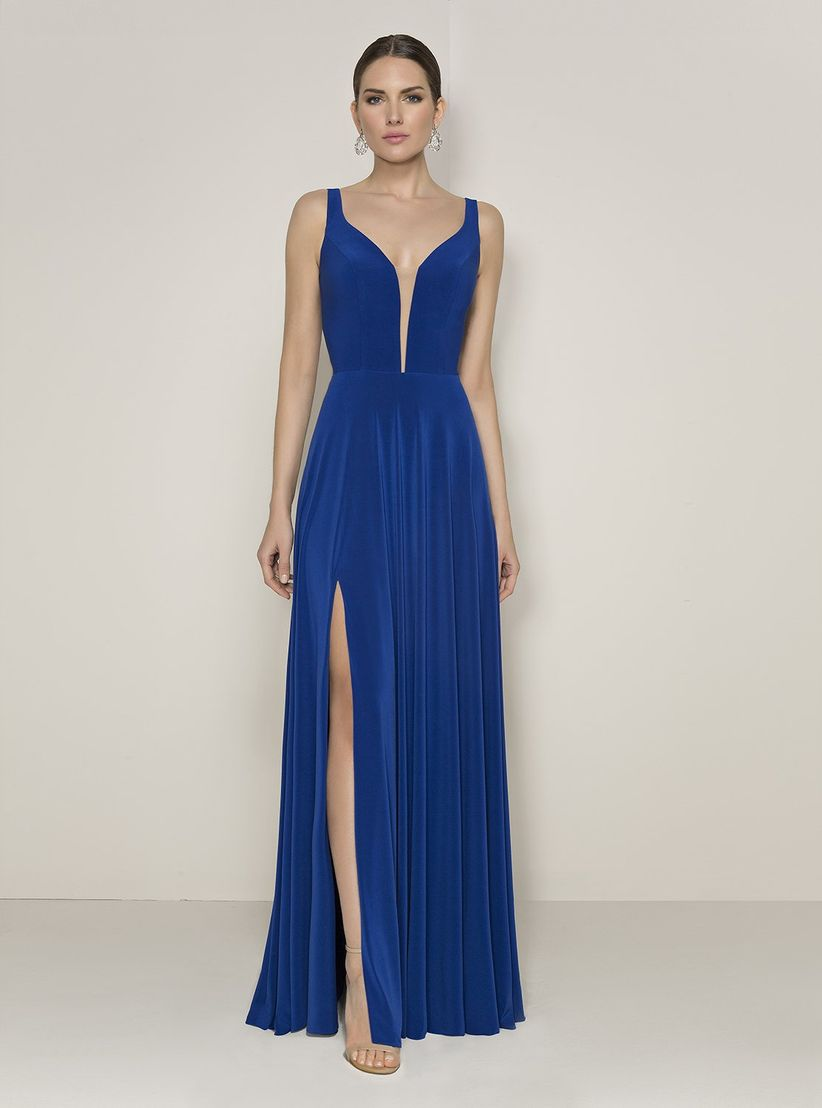Vestidos de noche azul para gorditas
