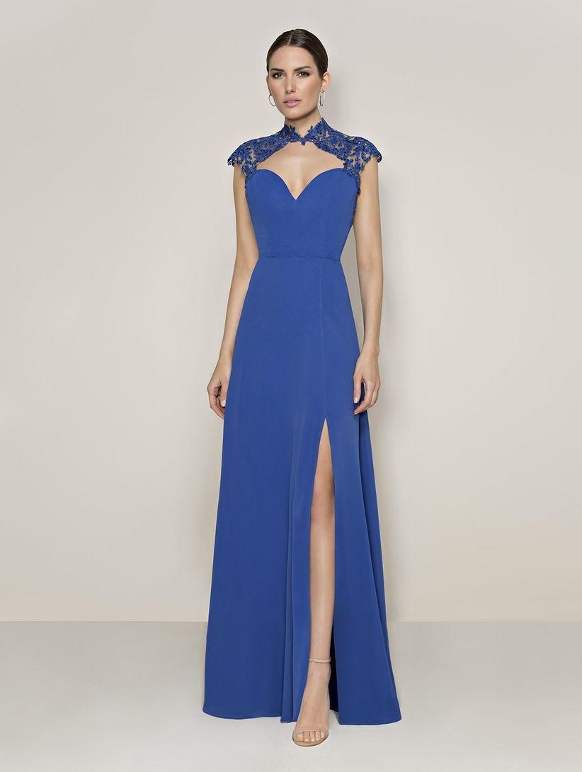 Combinar vestido fiesta azul noche