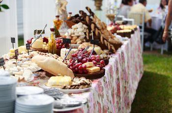 Cóctel, comida o buffet: Opciones para tu banquete nupcial