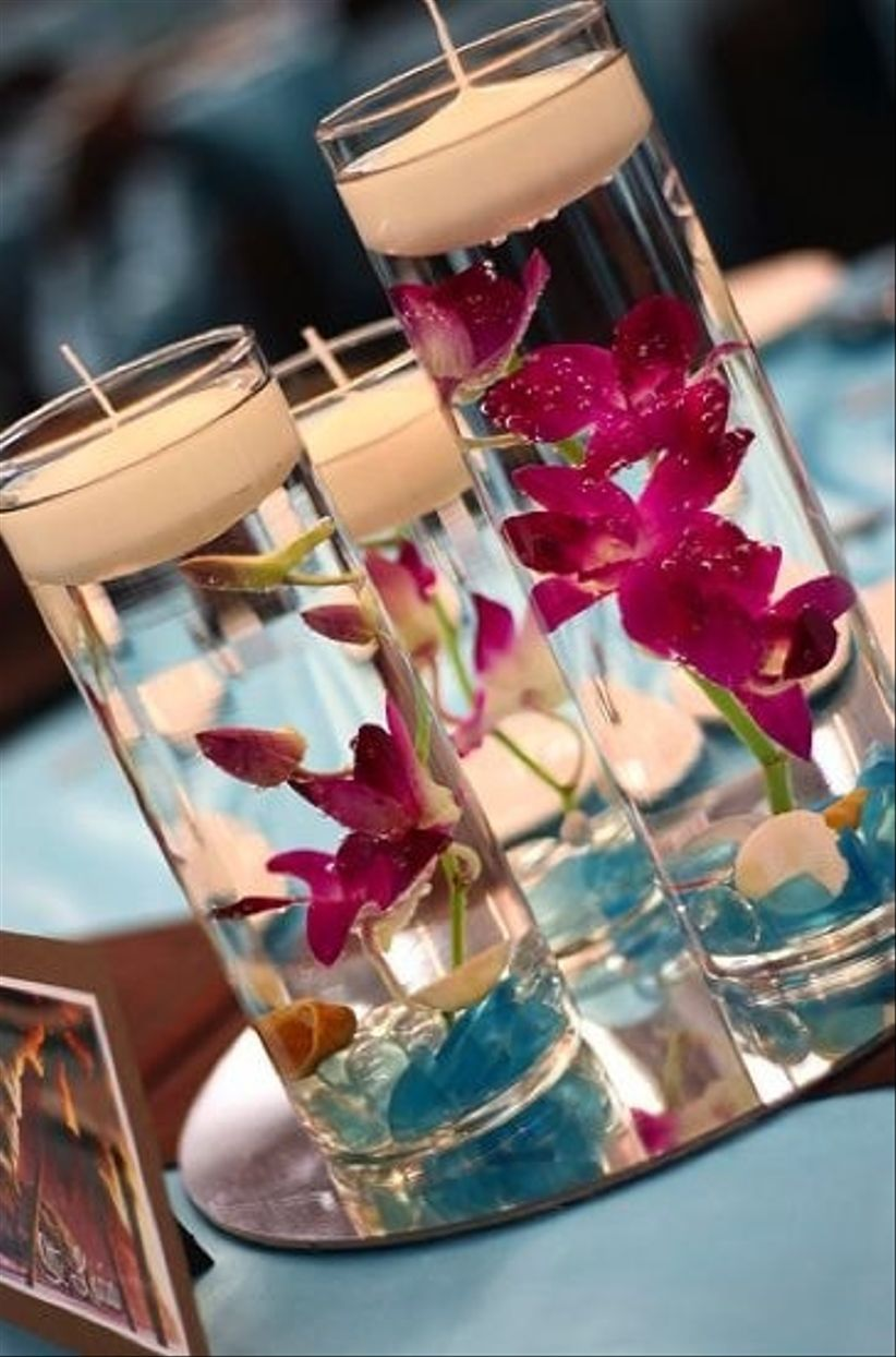 Decoraci n rom ntica con velas para tu boda - Velas de adorno ...