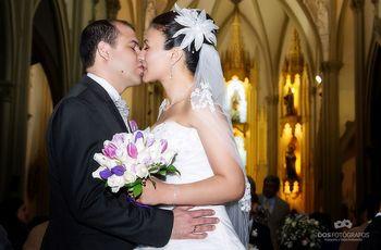 Novio bajito y novia alta
