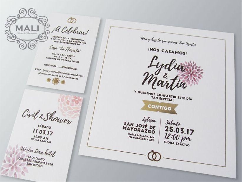 50 modelos de tarjetas de matrimonio que no deberías ...