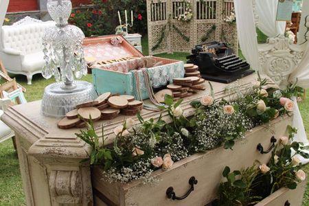 Decoración vintage para boda