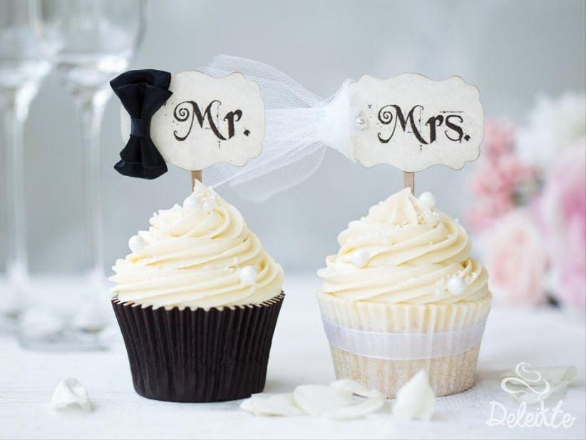 cupcakes para el matrimonio: la pequeña delicia para compartir