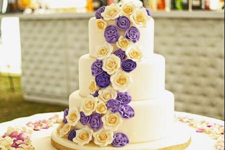 Enamórate de las tortas de matrimonio en masa elástica