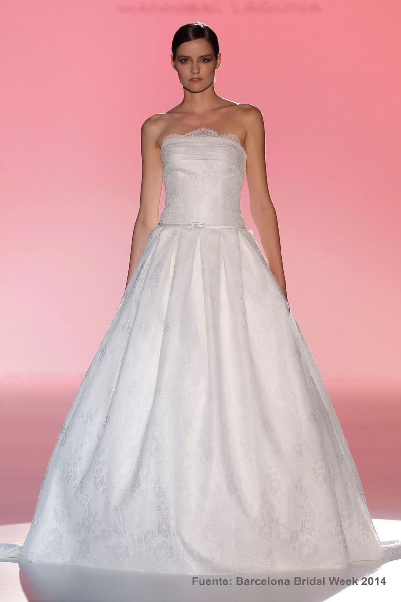 Asombroso Vestidos Novia 2014 Ideas Ornamento Elaboración Festooning ...