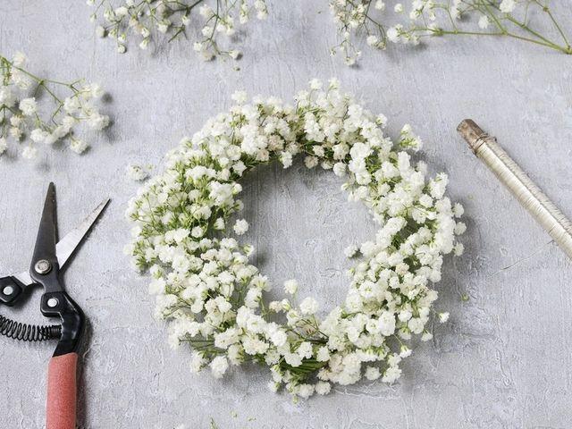 7 pasos para crear tu corona de flores
