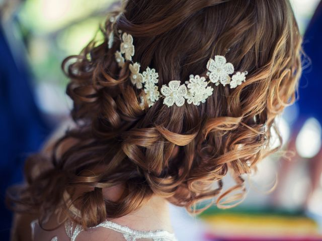Peinados semirrecogidos para novia según el largo del cabello