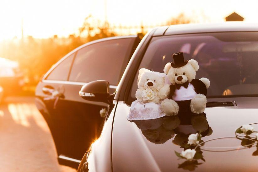 La decoraci n del auto de matrimonio - Decoracion coche novia ...