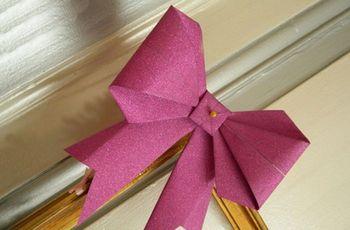 Haz lazos de origami para tu boda