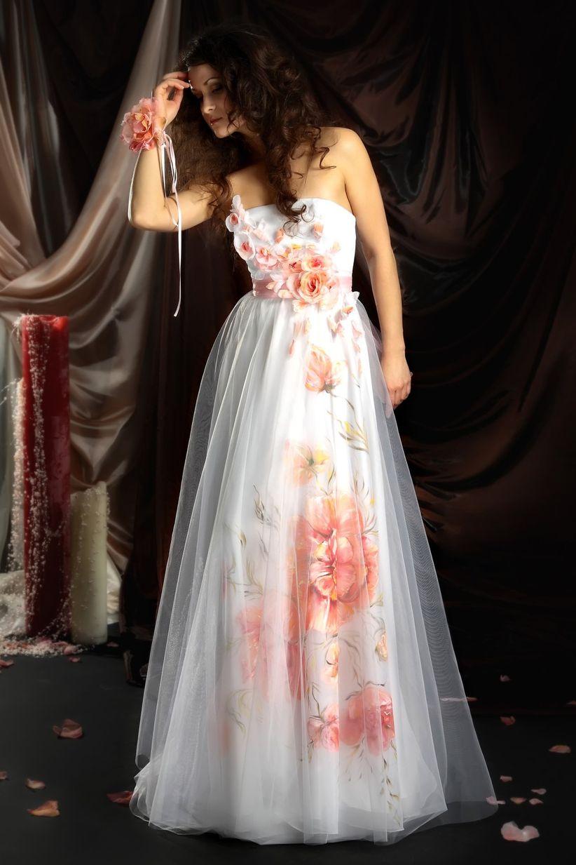 Vestidos de novia estampados con flores