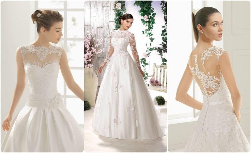 vestidos de novia con encaje 2016