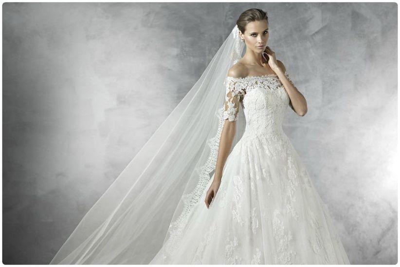 Fotos de vestidos de novia escote barco