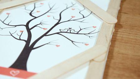 DIY: ¡Haz tu propio árbol de huellas para tu matrimonio!