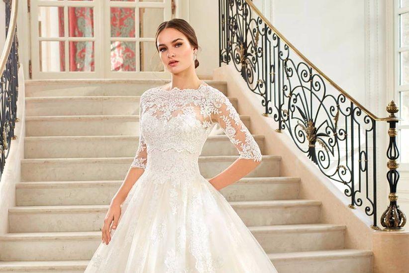 por qué elegir un vestido de novia manga tres cuartos?