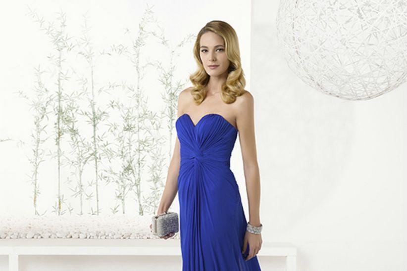 Vestido azul electrico para promocion