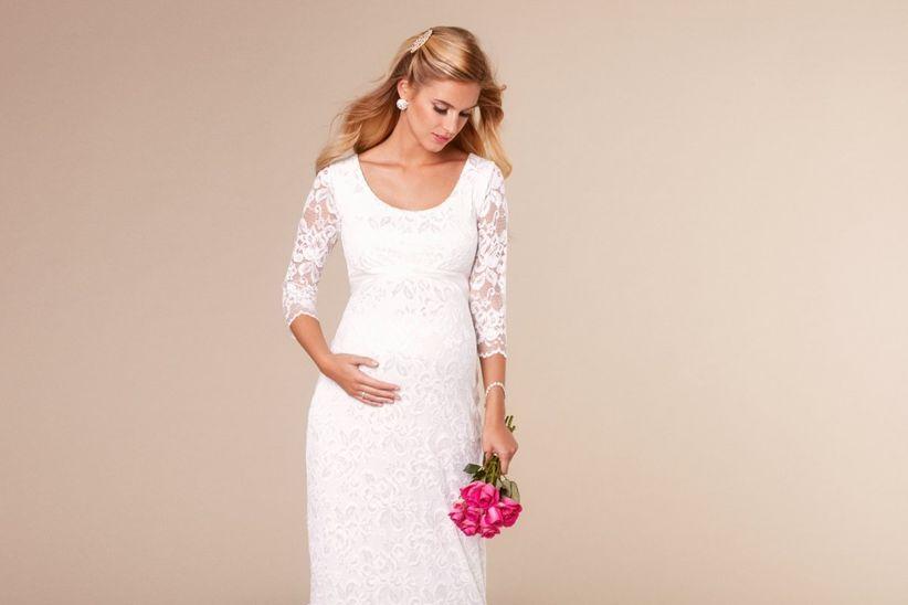 4bcf14641 Vestidos de novia para embarazadas con mucho estilo