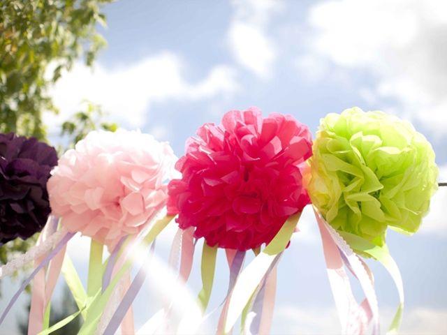 Pompones para decorar tu matrimonio