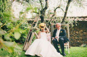 Ángela y Brian una boda rústica con sabor italiano