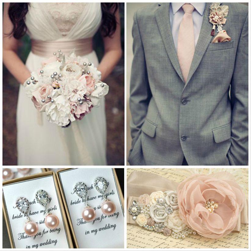 49418bf69dd Tu boda en gris, rosa y marfil