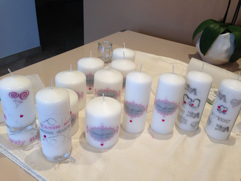 Personaliza las velas para tu matrimonio - Deco bougie mariage ...