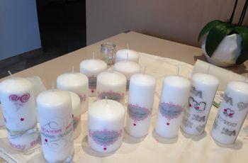 Personaliza las velas para tu matrimonio